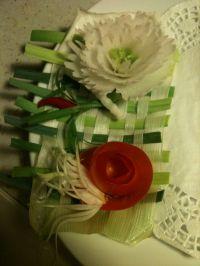 assiette décorée en attendant les radis...