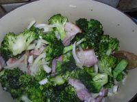 brocolis et lard fumé