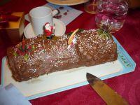 Bûche de Noël à la mousse de chocolat