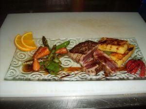 Chaud-froid de thon rouge sauce aigre douce