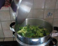Chou au cuit-vapeur en vapeur douce