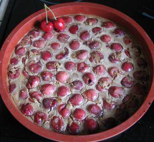 clafoutis aux cerises sans lait sans gluten