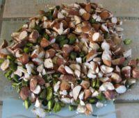 Concasser les amandes et fruits secs