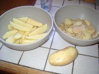 coupe des pommes de terre