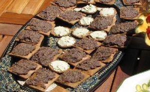 Crackers sans gluten cacahouètes