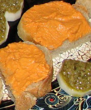 Crème de corail sur toast