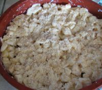Crumble aux pommes léger sans gluten