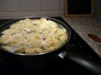 Cuisson des Raviolis gorgonzola et épinard