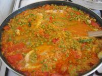 cuisson du riz dans la paella