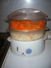 Cuisson vapeur Julienne de carottes céleri