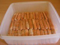 Disposition des biscuits à la cuiller