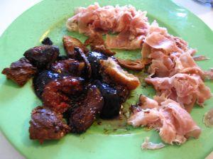 Figues caramélisées et jambon de Parme
