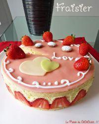 fraisier décoré maison