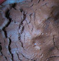 fondant au chocolat en gros plan