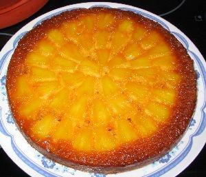gateau � l'ananas et au caramel