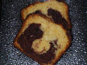 Gâteau au yaourt marbré au chocolat
