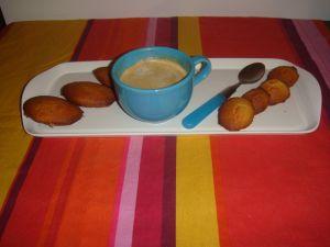 Grandes et petites madeleine en café gourmand