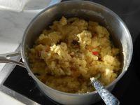Ingrédients dans la casserole