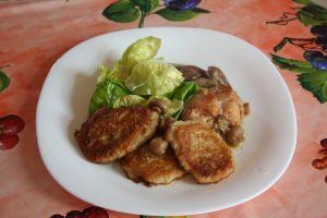 lapin, champignon, râtons, salade laitue