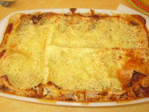 De bonnes lasagnes en gratin
