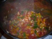 les légumes du poulet basquaise