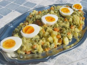 Plat de Macédoine de légumes