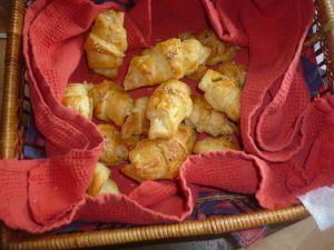 Mini croissants apéritifs ou goûter