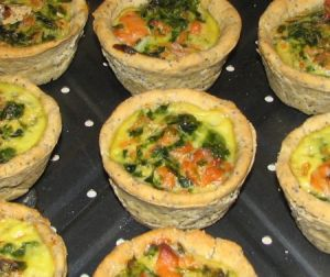 Mini quiches saumon sans gluten