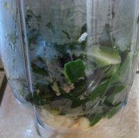 mixer les feuilles de blettes