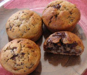 Muffins à l'épeautre chocolat banane