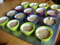 Les muffins prets à passer au four
