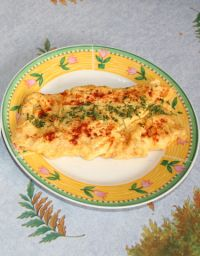 Omelette aux herbes.