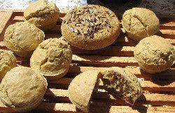 Petits pains sans gluten sans levure