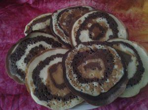 pancakes marbrés