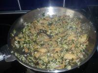 pasta aux herbes et champignons