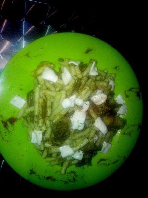 pâte au pesto et haricot vert