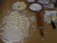 Pâte semée de beurre