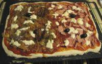 une pizza sans lait