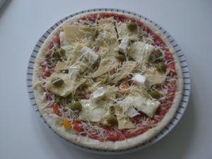 pizza aux légumes cachés