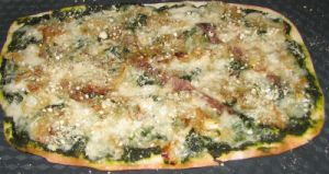 Pizza verte et légère