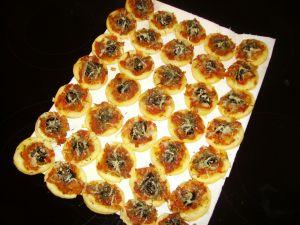 Mini-pizzas  pour  l'apéritif