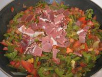 Poivrons, tomates et jambon