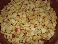 Pommes en dés du crumble