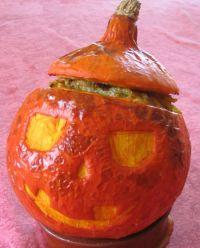 Potimarron façon citrouille d'Halloween