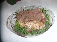 préparation du rôti de porc