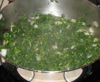 préparation des épinards