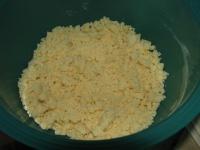 Préparation pâte sableuse du crumble