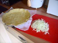 préparation de la quiche