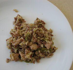 Risotto aux asperges et porc