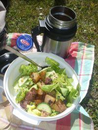 Salade balsamique de gésiers confits